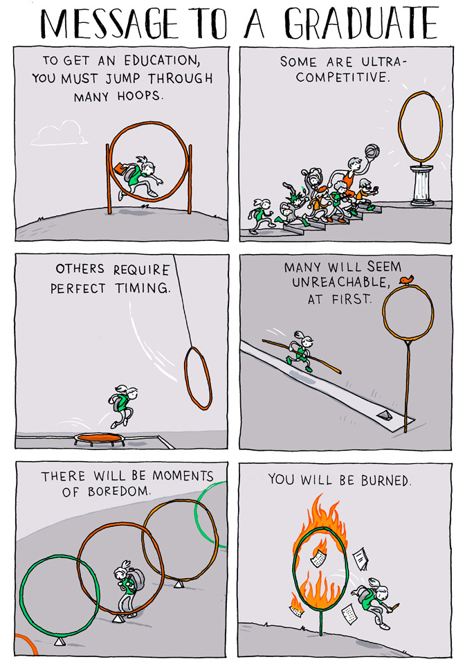 incidentalcomics:  Message to a Graduate