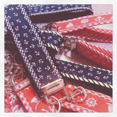 new in: nautical key chains // #anchor #ahoi #hardatwork #handmade #rostock #nautical