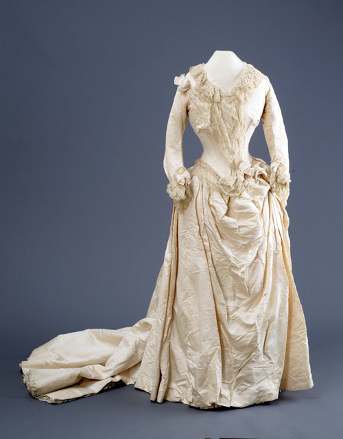 Wedding dress, 1888 From the Hull Museums