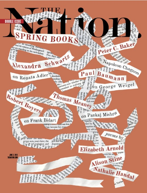 Our Spring Books double issue is here, chock full of new poetry and reviews, plus: Farai Chideya on how to fix journalism's class and color crisis Jessica Valenti on why she's voting for a woman in 2016, even if she's not the most feminist candidate John Nichols on why Chris Christie is a phony moderate David A. Love on winning the fight against the death penalty in Maryland