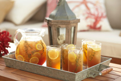 Relax with sweet tea infusions