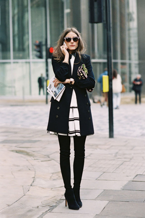 fashion-streetstyle:  (via Vanessa Jackman: London Fashion Week AW 2013….Olivia)