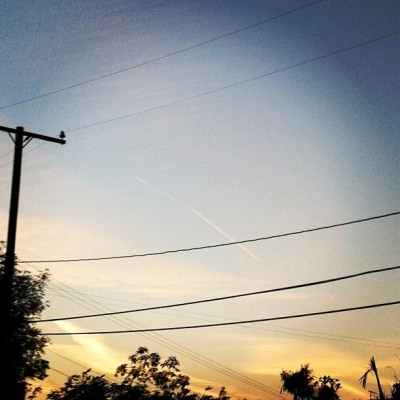 #oc #orangecounty #ca #california #sunset #evening #monday #telephone #pole #wires #sky #clouds #cloudporn