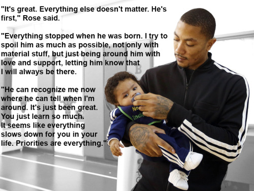 usatodaysports:  Derrick Rose: From agony of injury to joy of fatherhood  This story is great.