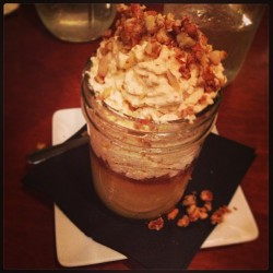 This, my friends, is called a #budino. A delicious #caramel flavored custard/pudding. #dessertporn