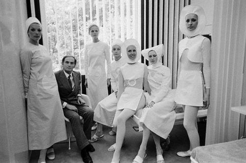 thenoiseinme:  Pierre Cardin & His Nurses, 1970