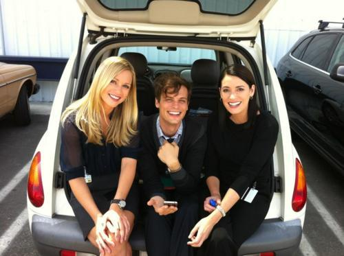 seriously-greys-anatomy:  Three most perfect people! <3  Her cruiser 2001!!!!!!!! =D