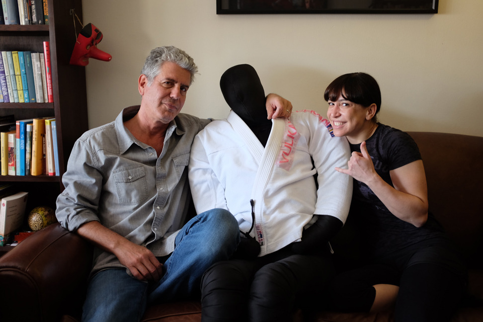fightland:  FIGHTLAND MEETS OTTAVIA BOURDAIN Ottavia Bourdain—writer, MMA lover, and dedicated Brazilian jiu-jitsu student—and her husband, Anthony, show us what life is like when you've got a fighter in the family. WATCH HERE