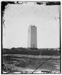 """Washington Monument as it stood for 25 years"" (c. 1860)"