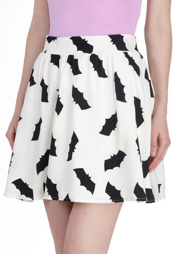 fashiontipsfromcomicstrips:   Bats All, Folks! Skirt, by ModCloth This skirt is so cute… but does it come in black?