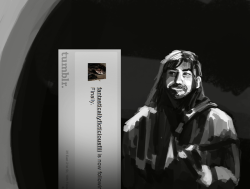 """[fantasticallyficticious]Fili and Kili, at your service!"" Thanks for following! :)"