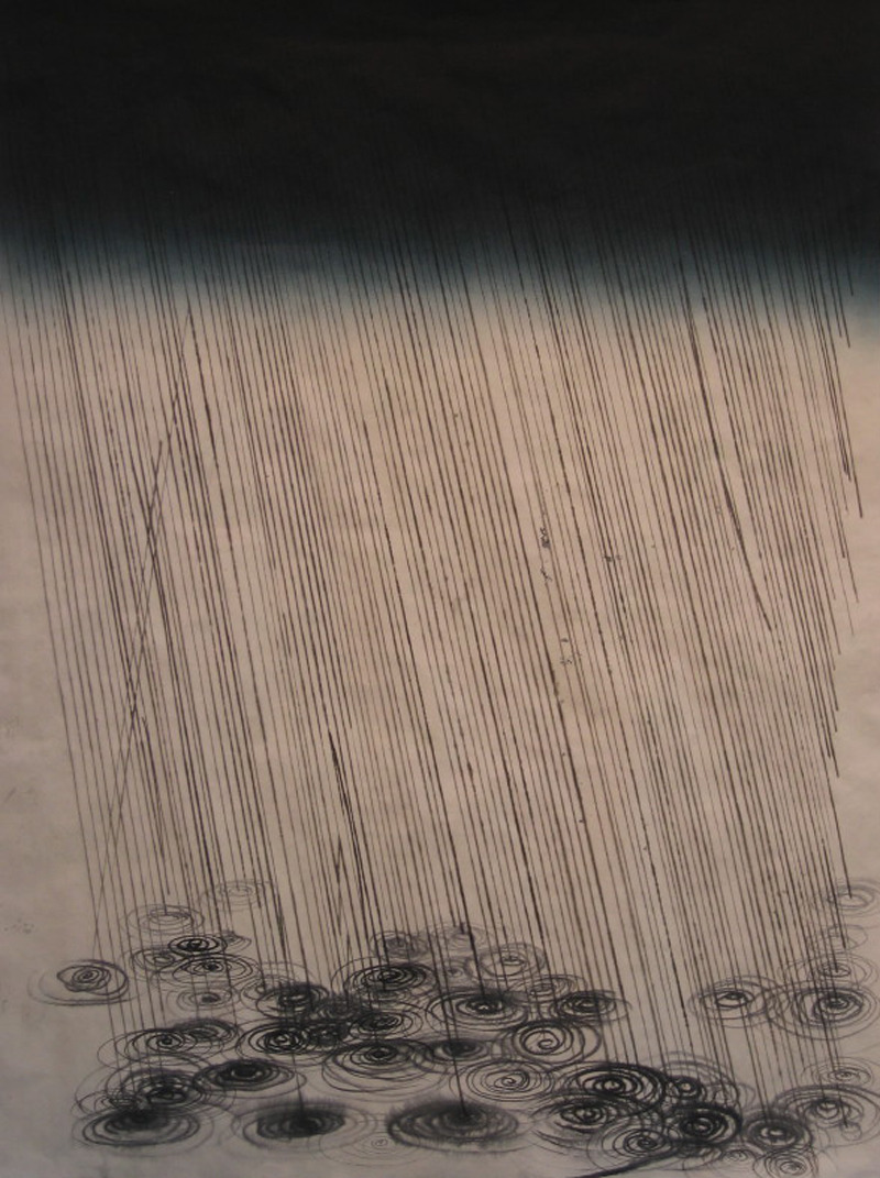 likeafieldmouse:  Stas Orlovsky - Storm (2007) - Ink on paper on canvas