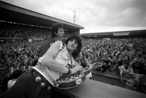 Mick Jagger & Ronnie Wood, Ashton Gate, Bristol, 27th June 1982