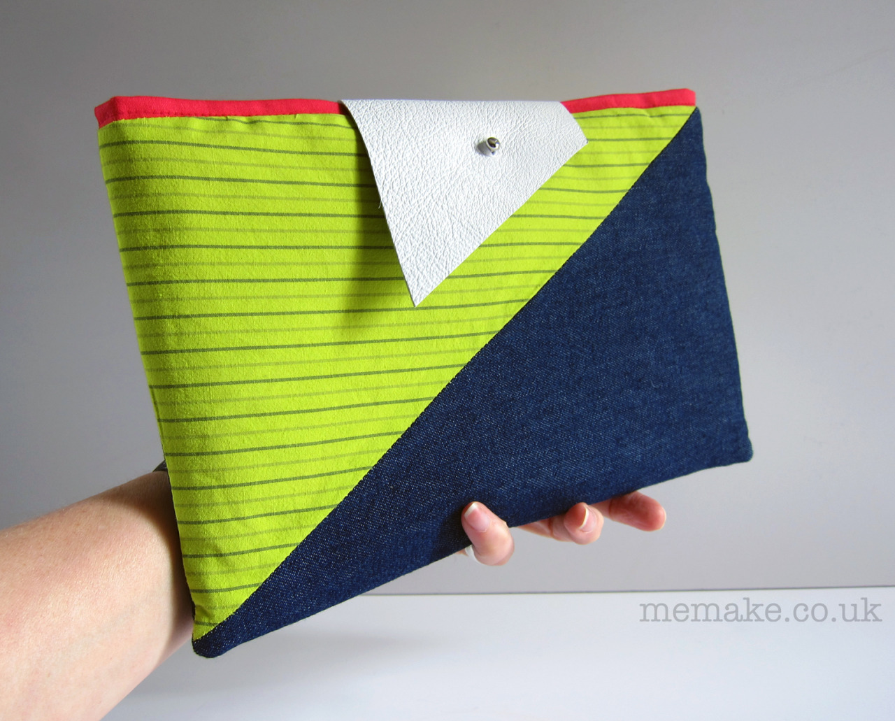 Geometric colour block clutch purse by memake