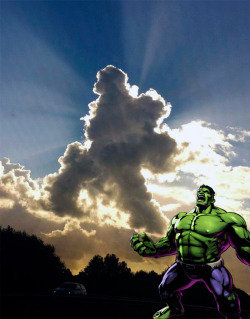 HULK SMASH SUN. HULK MAKE RAIN! (h/t: Reddit via Obvious Winner)