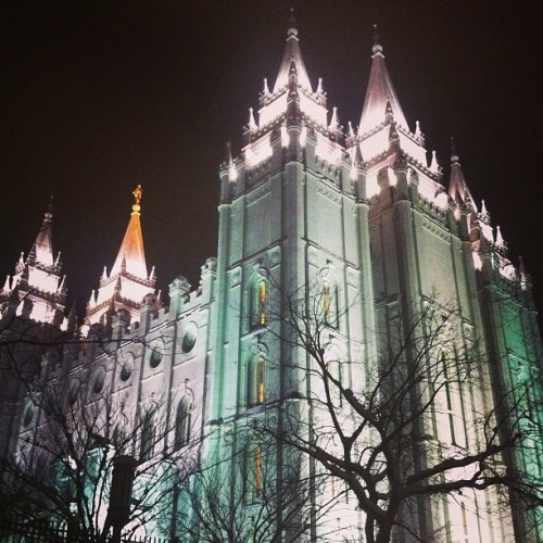 #MittRomney's second home. Seriously. (at Temple Square)