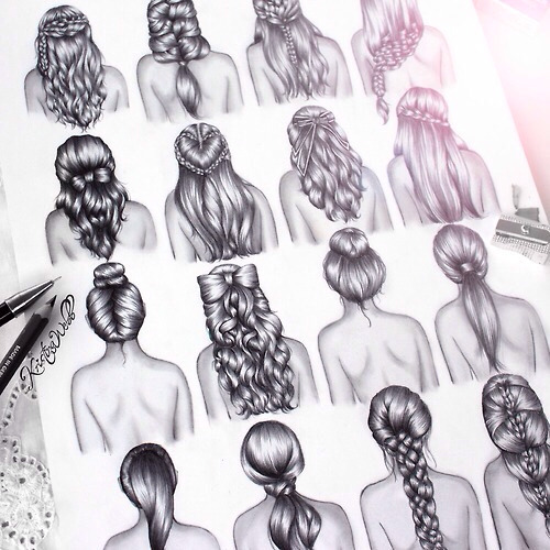 black draw girl girl drawing hair sketch hairstyle grey pretty white perf