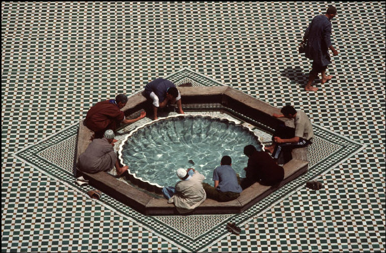 Morocco Marrakech. Inside the Mausoleum of Sidi Abdelaziz at Tabaa 1987