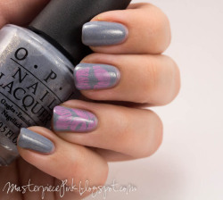 OPI - I Don't Give Rotterdam! Konad special polish in pastel pink Images from Bundlemonster stamping plate BM-303