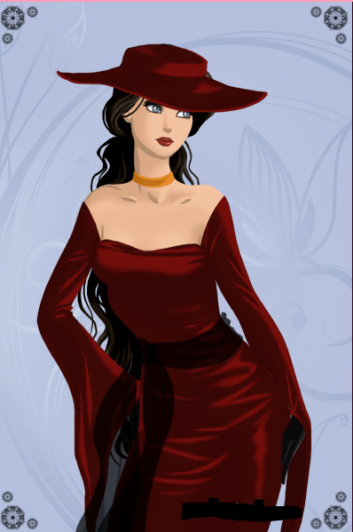 i tried to make her look like Carmen Sandiego
