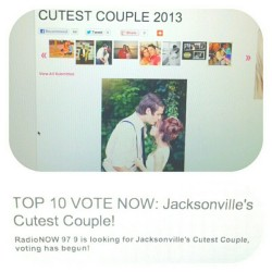 Out of 220 couples we made top 10!! But we still need your votes! Go to www.radionow979.com and click on top 10 cutest couples to vote, then vote for us! Or the direct link is on my facebook! Thank you thank you thank youuu! :)