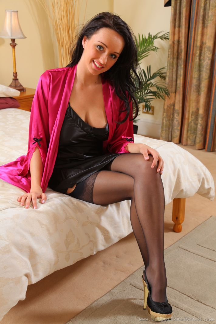 stockingshq:   Levante Vanessa stockings from stockingshq.com… showmeyourpantyhose: Sexy babe in sheer stockings