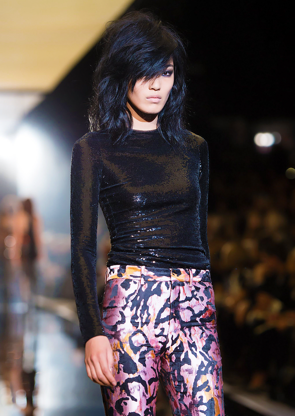 vl4da:  chiharu okunugi @ tom ford ss 2015  this is like the outfit to end all outfits for me