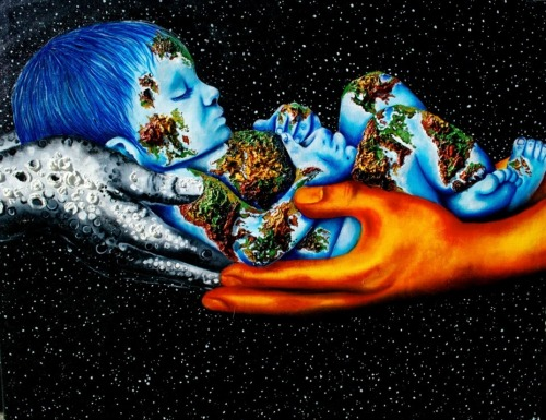 The New Earth by Lisete Alcalde~ oil painting on canvas