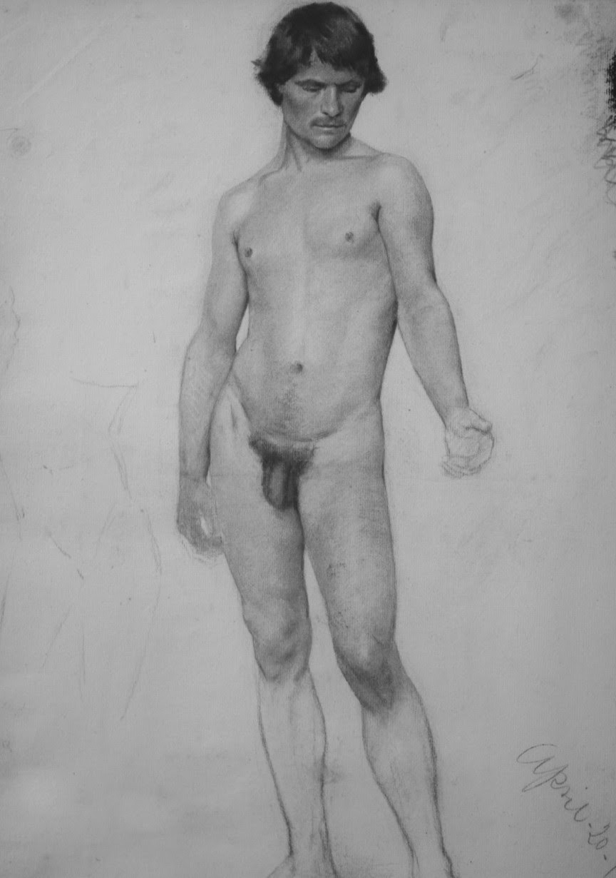 2018-11-06 17:58:34 - male nude sketch from drawing academy dated 20th pastmalebeauty http://www.neofic.com