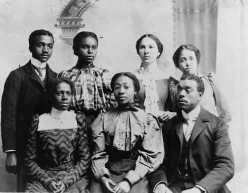 HIGHER EDUCATION | 1898 African American College Students, Roger Williams University, Nashville, TN. American Negro Exhibit, 1900 Paris Exhibition, W.E.B. Du Bois. LOC via Black History Album, The Way We WereFollow us on TUMBLR  PINTEREST  FACEBOOK  TWITTER