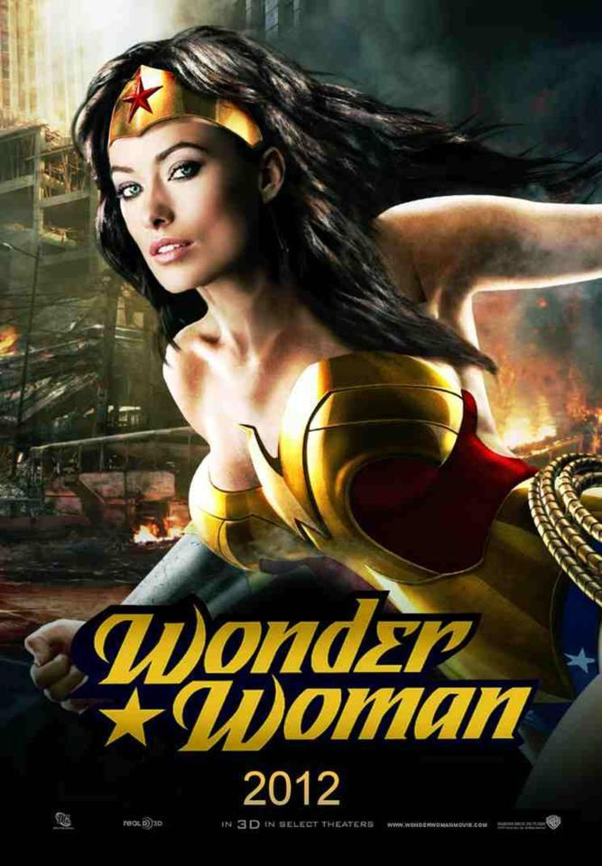 Fan made Wonder Woman poster with Olivia Wilde! via  facebook.com/dcmovies