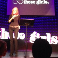 "As Amy Poehler said tonight at Glamour's #thesegirls event, ""Here's to you, Gloria Steinem, keeping it skinny for 50 years."" NP"