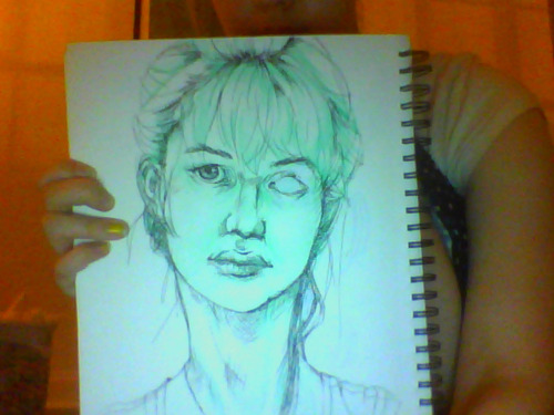 Thought I'd show off the [really inaccurate] self portrait I've been working on. The shading is a bit washed out sadly. Looking to fix the eye area and shoulders…. Want to have this done before I leave Monday afternoon so I can hand submit it….