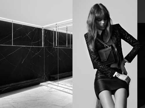 Freja Beha back for Saint Laurent pré-fall 2013 (By Hedi Slimane) (finally, a good choice Hedi)