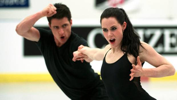 Ice Dancers Scott Moir and Tessa Virtue of Canada take part in a practice session in London, Ont. Tuesday, March 12, 2013 during he The ISU World Figure Skating Championships 2013. (Kevin Van Paassen/The Globe and Mail) FIERCE TESSA.