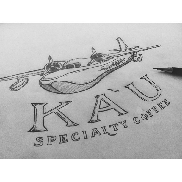 Putting on the finishing touches—Ka`u Specialty Coffee. #hawaii #plane #coffee