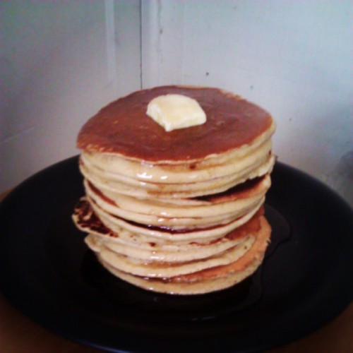 Guys, I never post pictures of food, but I just made a stack of pancakes that looks just like the ones in cartoons.