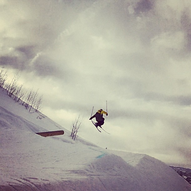 screen grab from yesterday at #steamboatsprings. shot by #colinscholz. @armadaskis JJs work in da park too. #ski #snow #snowboard #winter #alpineinitiatives #mountains  #mountainsareawesome #colorado #park #gopro #notiphone #friends #life #latergram