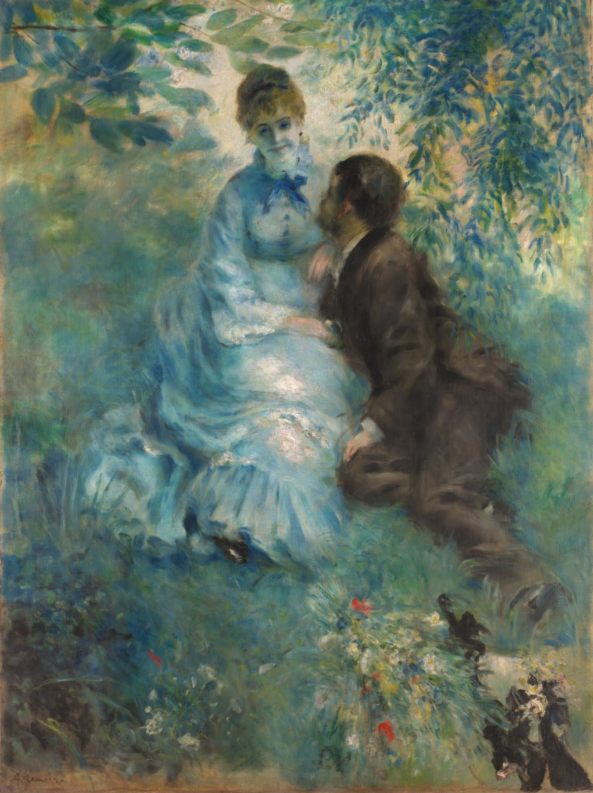 Pierre-Auguste Renoir - Lovers (1875)