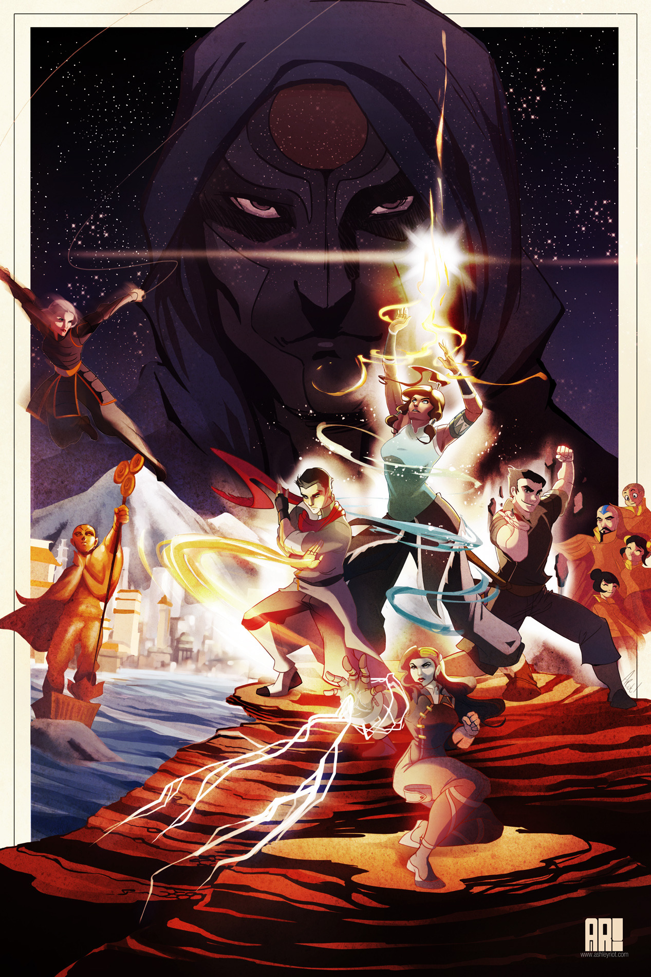 thequeenriot:  Use the Force, Korra. I finally finished it!