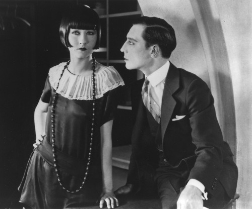 maudelynn:  Rosalind Byrne and Buster Keaton in Seven Chances c.1925  via http://www.fromthefrontrow.net