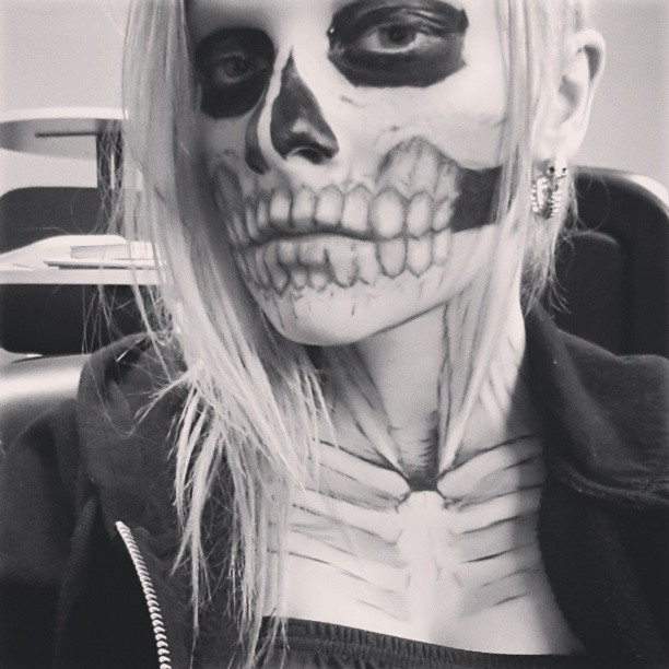#me #metal #rocker #rock #goth #skeleton #makeup