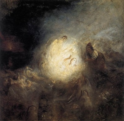 colourthysoul:  Joseph Mallord William Turner - Undine Giving the Ring to Massaniello, Fisherman of Naples