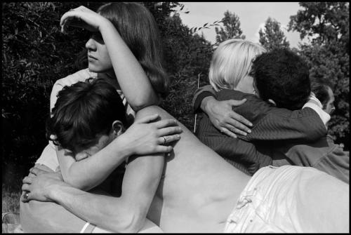 Leonard Freed - Youth in park. West Berlin, 1965