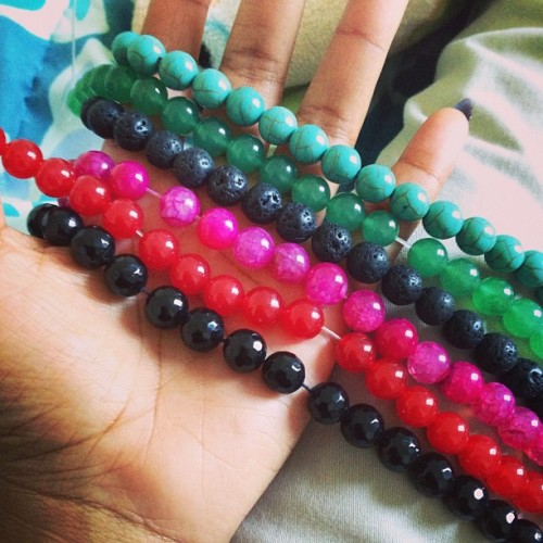 Gemstone beads are in. Etsy store up soon various designs will be shown as well.