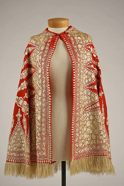 Wool and silk cape | Met Museum | 1850s