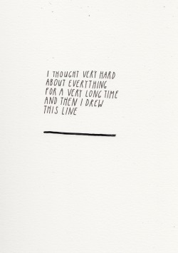 I enjoy this.  goodtypography:  This Line (2012), Gouache and ink on paper