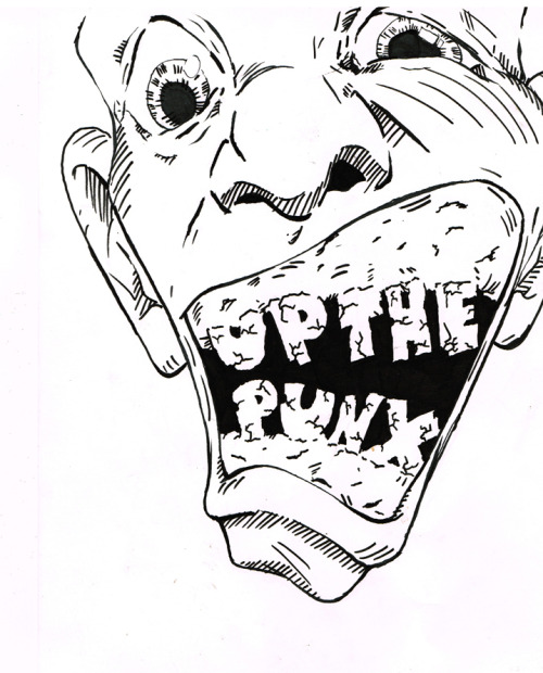 Scan of a sticker I'm working on.  May re-do to make the teeth bigger, I haven't decided yet.  Gonna color it, gonna add blood.    Thoughts?  Feelings?   Please.  Let's talk about our feelings some more.