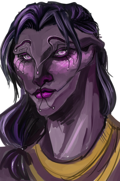 quick doodly of what i imagine tali to look like (i made a silly 3d model before)