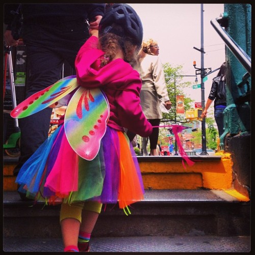This little girl wins today. I want a fairy wand for my commute.  (at Park Slope, Brooklyn)